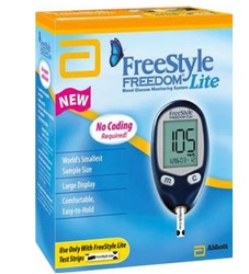 Freestyle Freedom Lite Blood Glucose Monitor Kit Abbott