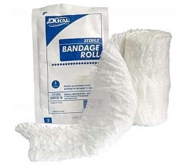 Gauze Bandage Roll 4.5 x 4 Yards 6Ply Sterile Cotton Dukal 645- 1 Each