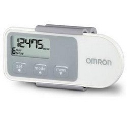 Omron Hip Pedometer Tri-Axis Technology 2 Track Modes HJ320- 1 Each