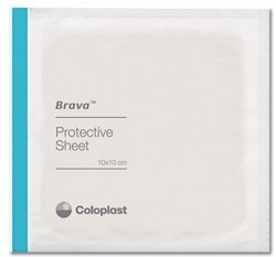 Brava Skin Barrier 4x4 Protective Sheets Coloplast 32105- Box/10