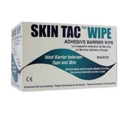 Skin Tac Adhesive Skin Barrier Wipes Torbot MS407W- Box of 50