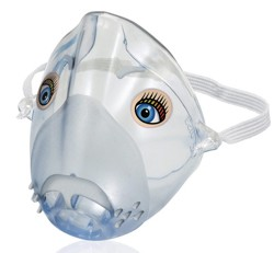 Aerosol Mask Sami the Seal Sidetream Protects Eyes HS880- 1 Each