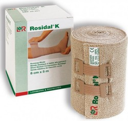 Bandage Short Stretch Rosidal K 4 Inch x 5.5 Yards LF 22202- 1 Each