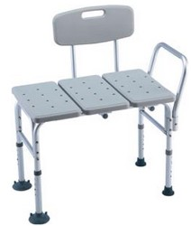 Invacare Shower Bench with Back Tool Free Assembly INV98071- 1 Each