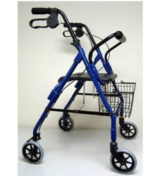Rollator Blue Sunmark 32-37 Inch with Locking Brakes 1156926- 1 Each