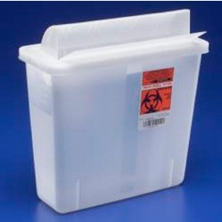 Container Sharps 5 Qt Open Top Clear Covidien In-Room 851201- 1 Each