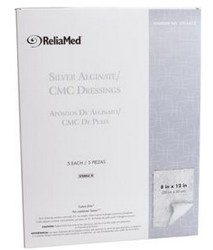 Reliamed Silver Calcium Alginate Drsg 8x12 Sterile ZSCA812- Box of 5