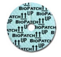 Biopatch IV Dressing CHG 1 Inch Disk 4mm Hole Ethicon 4150- 1 Each
