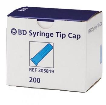 Box Of Bd Syringe Tip Caps For Luer Lock And Slip Tip