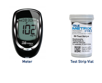 true metrix pro glucose meter with 50 test strips. Black Bedroom Furniture Sets. Home Design Ideas