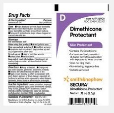 Secura Dimethicone Cream 3.5gm Packs Skin Protectant 59435000- 1 Each