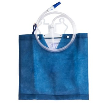 Urinary Drain Bag 2000mL with Cover Anti-Reflux Valve 162880C- 1 Each