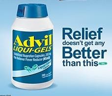 Advil Liqui-Gels 200mg- 240 Liqui-gels