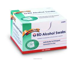 Swabs Alcohol BD NonSterile in Foil Wrap BD 326895- Box of 100