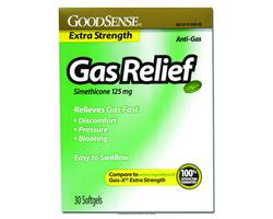 Gas Relief Softgels- 125mg Simethicone- Mfr# RDC95467- 30 Count