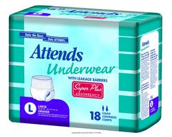 Attends Underwear, Super Plus Absorbency with Leakage Barriers