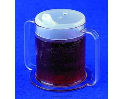 Plastic Mug 2-Handle with 2 Lids 9 oz PSC Brand PIPSC49- 3 Pack