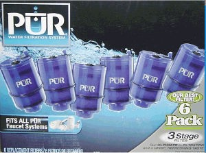 Pur 3 Stage Water Filters- 6 Pack, for the Faucet