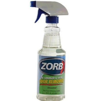 Zorbx Odor Remover 16 Ounce Spray Unscented Non-Toxic 1130- 1 Each