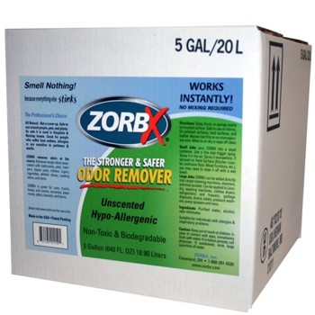 Zorbx 5 Gallon Unscented Odor Remover Non-Toxic 1150- 1 Each