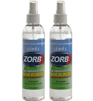 Zorbx Odor Remover 7.5 Ounce Spray Unscented Non-Toxic 1750- Pack/2