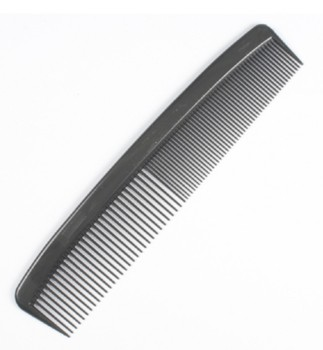 Hair Comb 5 Inch Black Plastic Fine and Extra-Fine Teeth 4882- Box/12