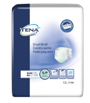 Tena Small Briefs 22 to 36 Inch Waist Heavy Absorbency 66100- Pack/12