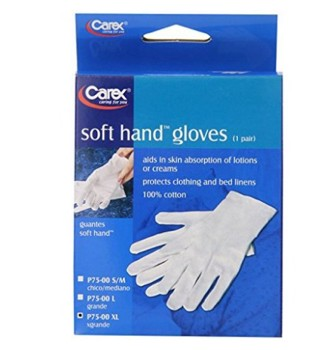 Soft Hands Cotton Gloves Large Size Carex P75L00- 1 Pair