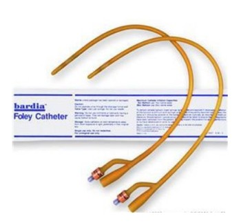 Foley Catheter 18Fr Bardia Silicone Coated Latex 30cc 123618A- 1 Each