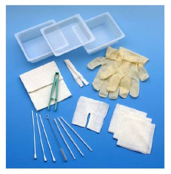 Case of Carefusion 4682A Trach Care Cleaning Kits No Gloves- Case/20