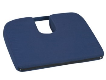 Coccyx Cushion Sloping Foam Seat with Handle Navy 51379392400- 1 Each