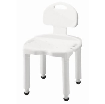 Carex Universal Shower and Bath Bench with Back White FGB671C0- 1 Each