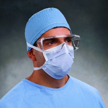 Surgical Mask with Ties Blue Pleated Blue Halyard 48201- Box/50
