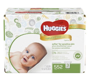 Baby Wipes with Aloe Unscented Huggies Natural Care 31816- Case/552