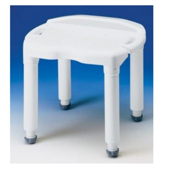 Shower Seat Universal Bath Bench without Back Carex B67000- 1 Each