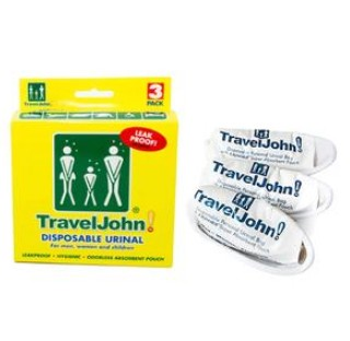 Travel Urinal Bags TravelJohn for Men and Women Reach RCH66893- Pack/3