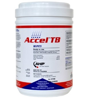 Accel TB Disinfectant Wipes 6 x 7 Inch UWIP242221- Canister/160 Wipes