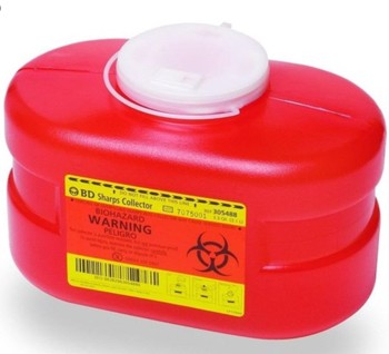 Case of BD Sharps Containers 3.3 Quart Small 305488 Jug Style- Case/24