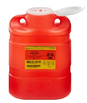BD Sharps Waste Container 8.2 Quart Red BD 305490- 1 Each