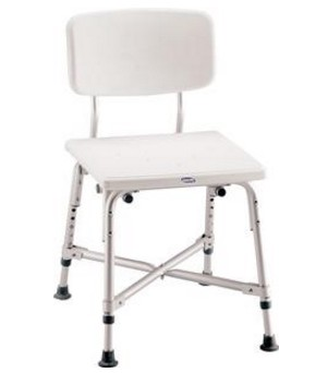 Invacare Bariatric Shower Chair Contoured Seat and Back 97852- 1 Each