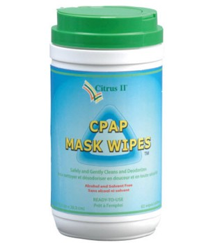 CPAP Mask Wipes Citrus II Beaumont Products 635871639- Can/62 Wipes