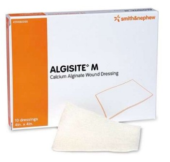 Calcium Alginate Dressing AlgiSite M 4x4 Inch SKU 59480200- 1 Each