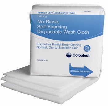 Bedside-Care EasiCleanse Self Foaming Bath Wipes 7057- Case/600