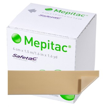 Mepitac Tape 1.5 x 59 Inch Soft Silicone Gentle Fixation 298400- 1 Each