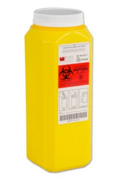 Chemo Sharps Waste Container 2 Qt Yellow Post Medical WD200Y- Case/12