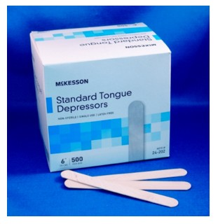 Tongue Blades 6 Inch Wood NonSterile 24202 MediPak- Box of 500