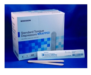 Tongue Depressors 6 inch Wood Wrapped NS MediPak 24705W- Box/250
