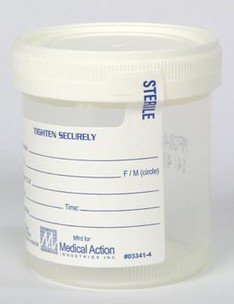 Medegen Specimen Containers 4oz No-Leak Sterile Vollrath 4936- CS/300