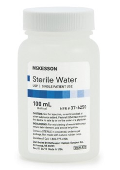 McKesson Sterile Water for Irrigation 100mL Bottle 376250- 1 Each
