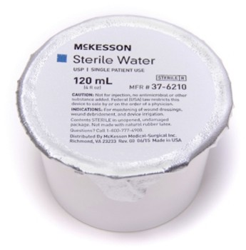 Sterile Water 120mL Foil Cup for Irrigation McKesson 376210- 1 Each
